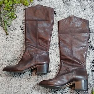 Louise et Cie brown leather riding boot | 8B